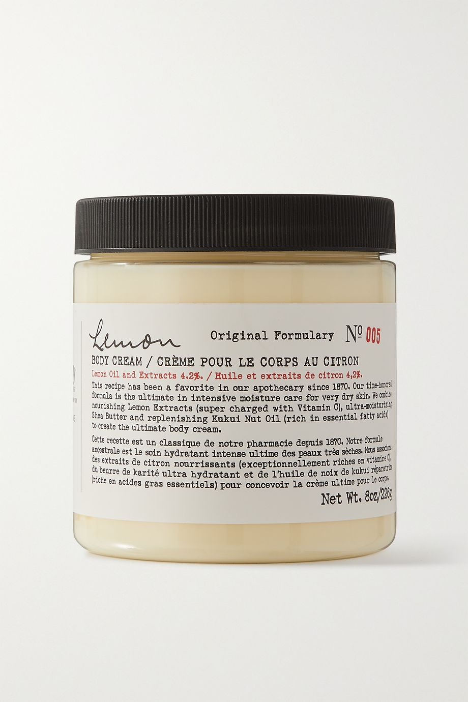 C.O. BIGELOW Lemon Body Cream, 226g