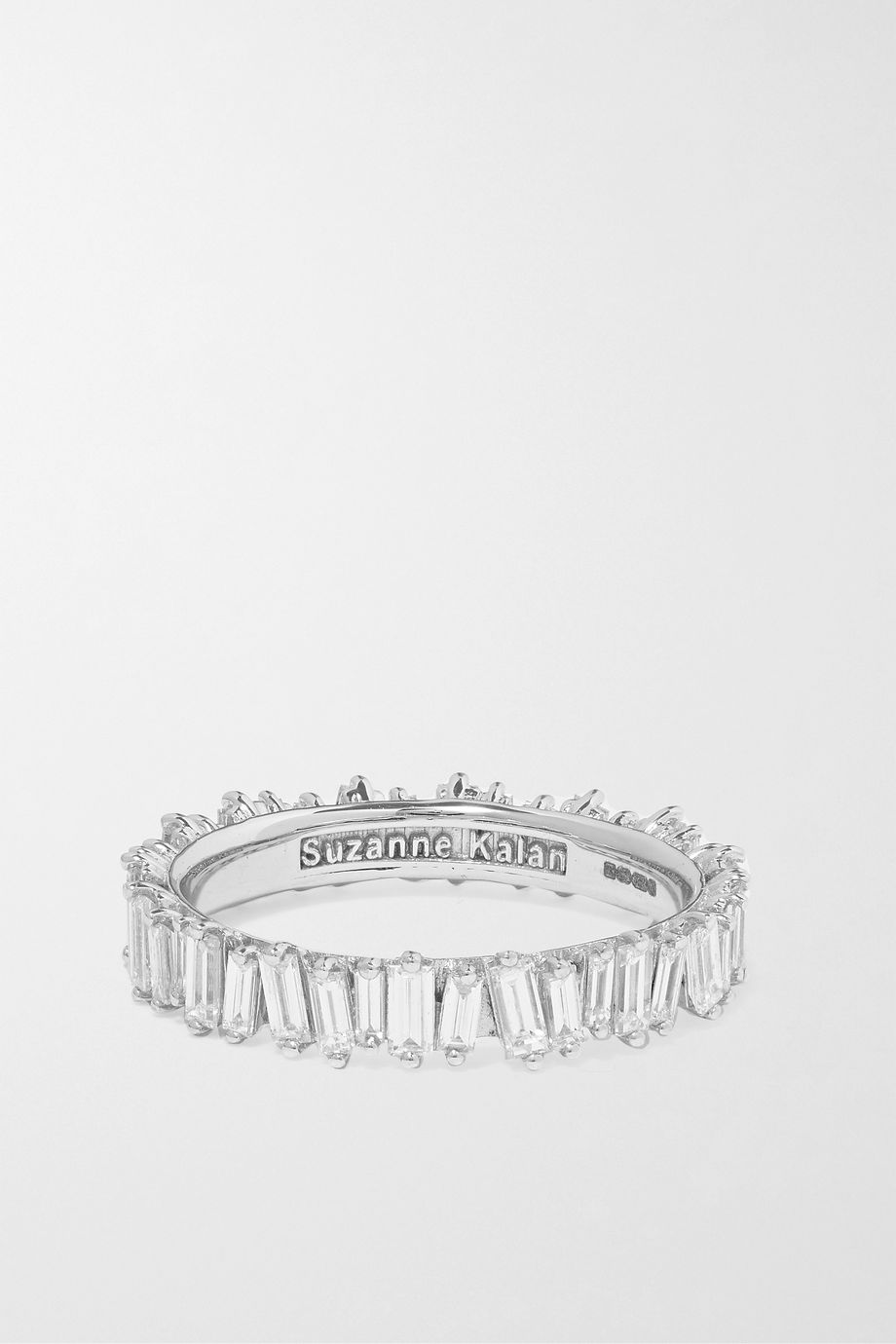 SUZANNE KALAN 18-karat white gold diamond ring
