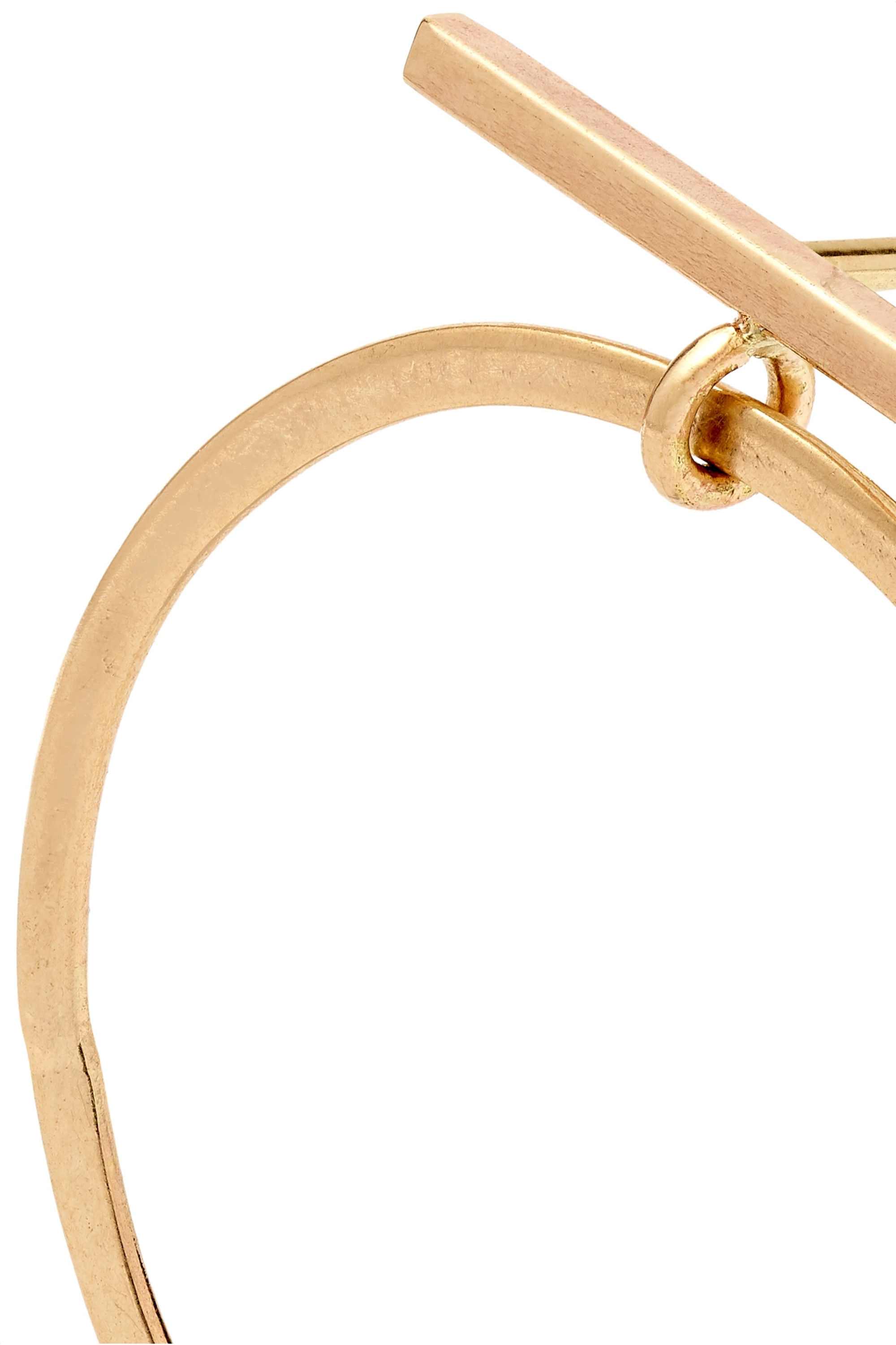 MELISSA JOY MANNING + NET SUSTAIN 14-karat gold hoop earrings