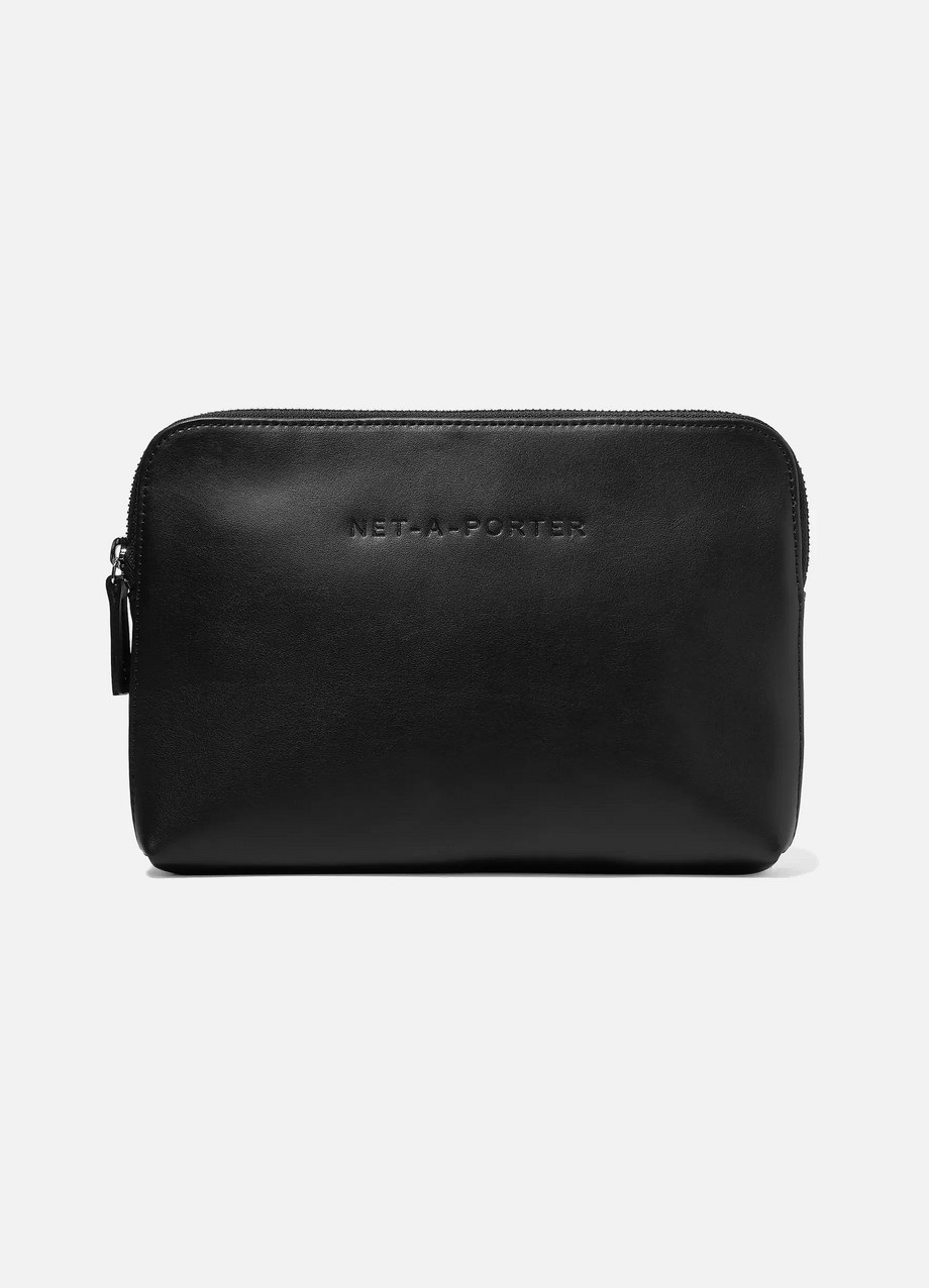 NET-A-PORTER Embossed leather cosmetics case