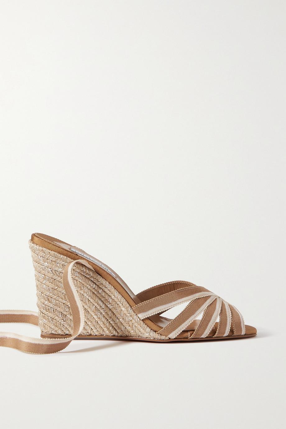 AQUAZZURA Marinaia 85 grosgrain espadrille wedge sandals