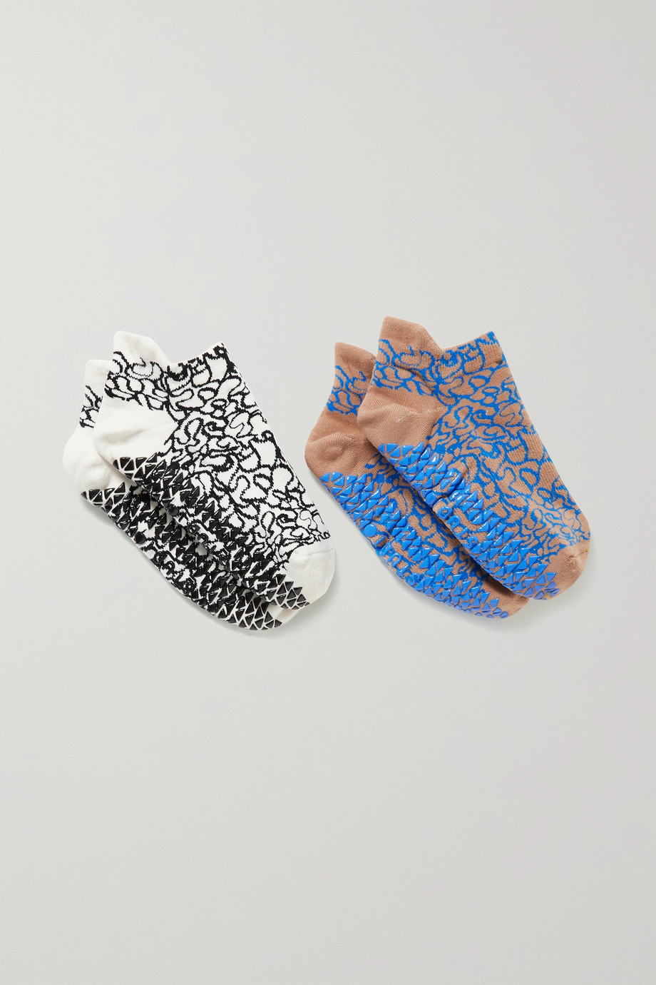 POINTE STUDIO Fashion Studio set of two printed cotton-blend socks