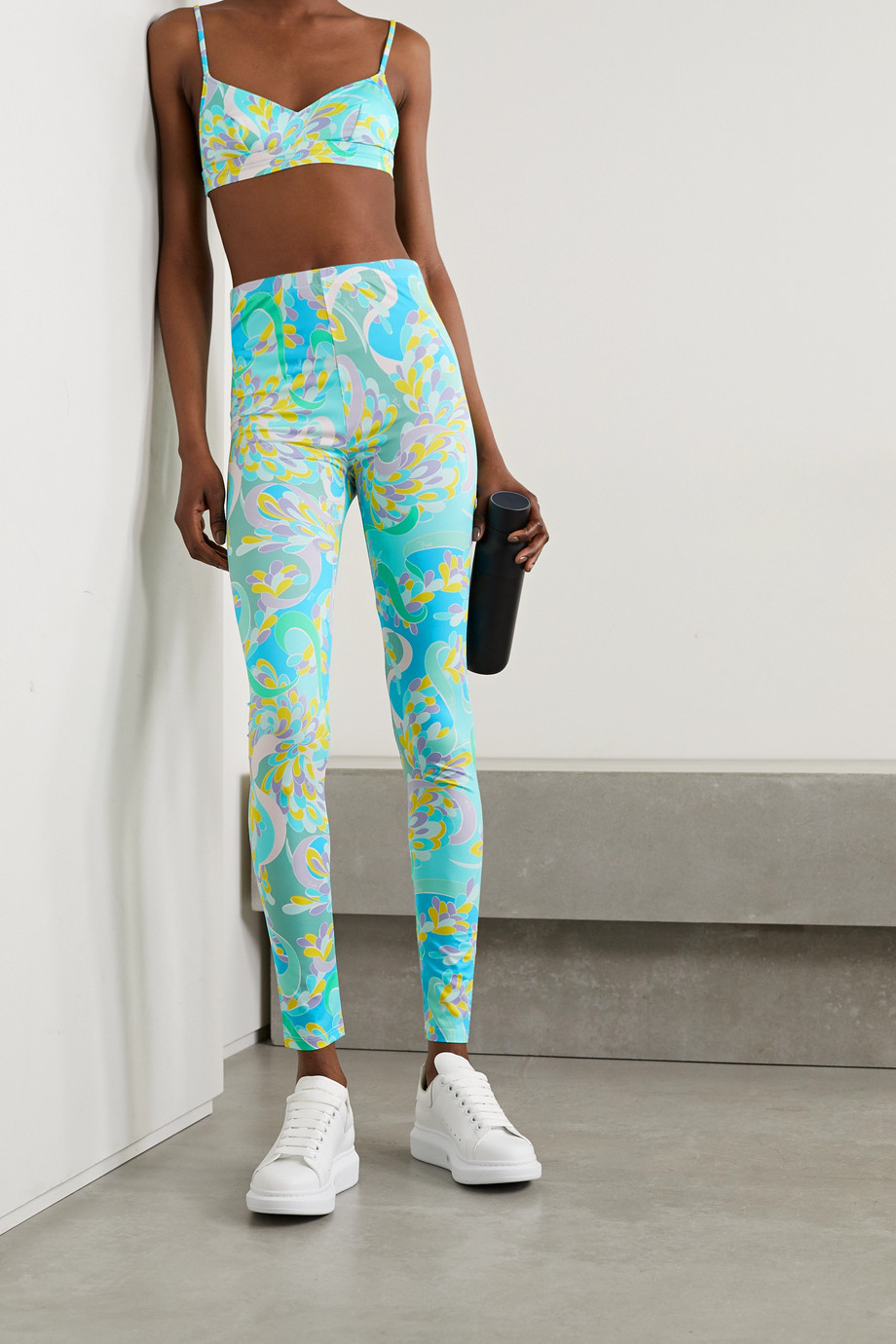 EMILIO PUCCI Printed stretch-ECONYL leggings