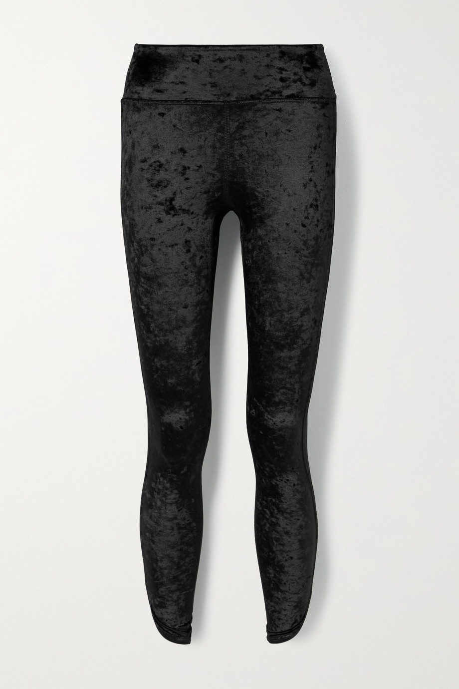 HEROINE SPORT Tulip crushed stretch-velvet leggings