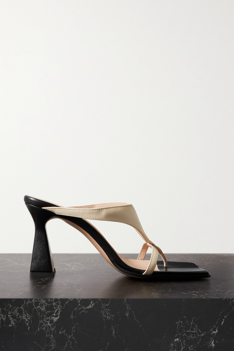 WANDLER Feline two-tone leather sandals