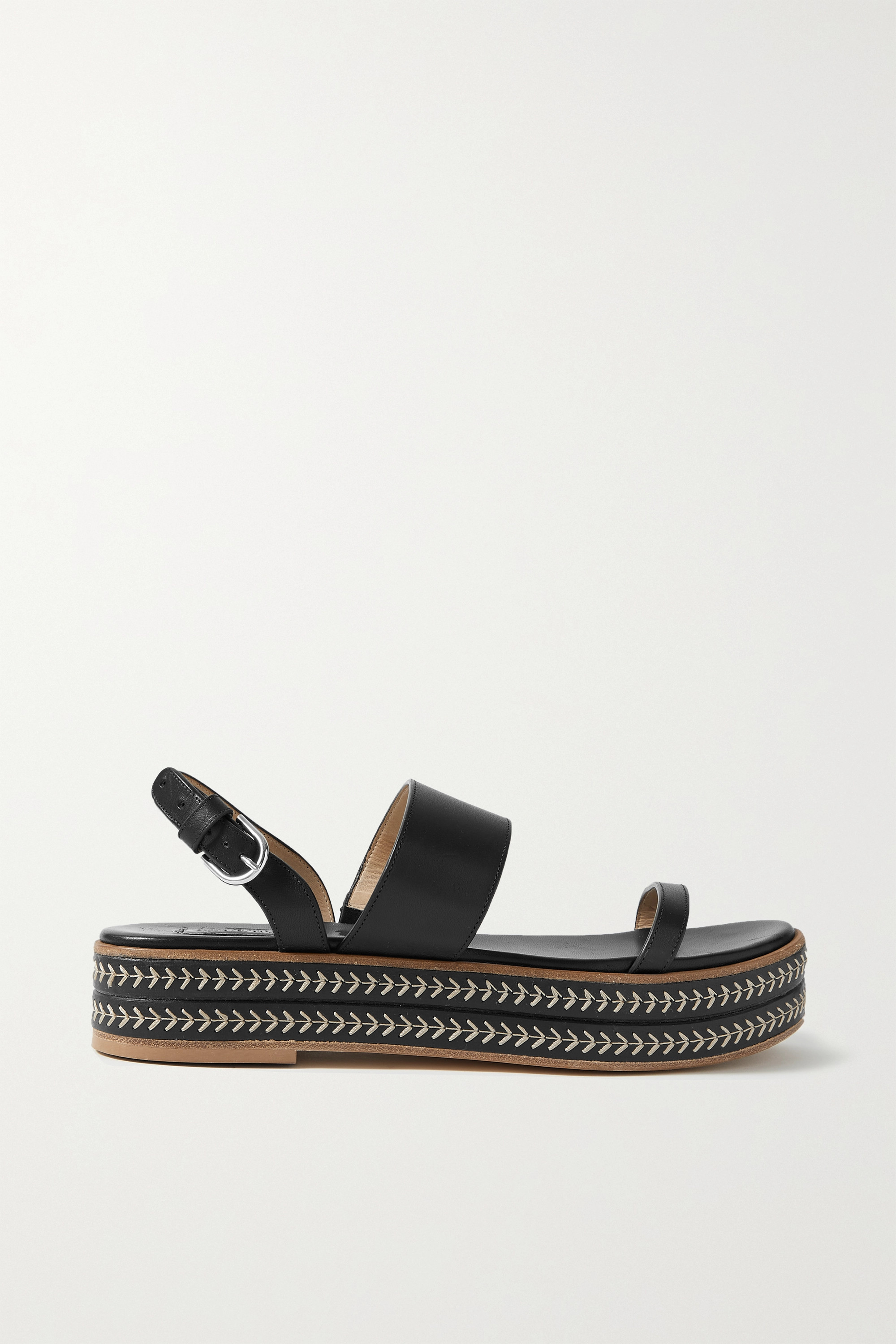 GABRIELA HEARST Graham embroidered leather slingback platform sandals