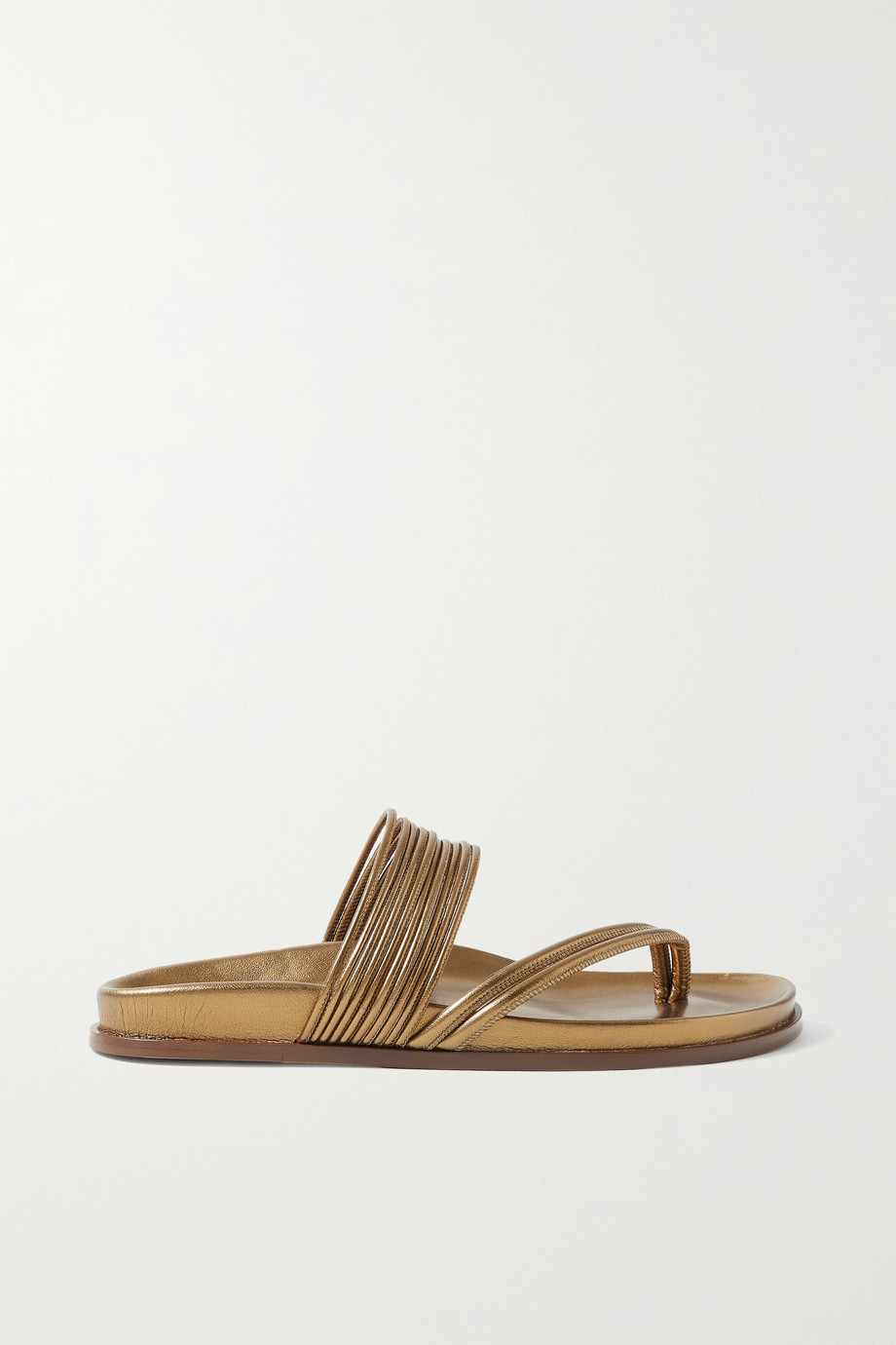 EMME PARSONS Roma metallic leather sandals