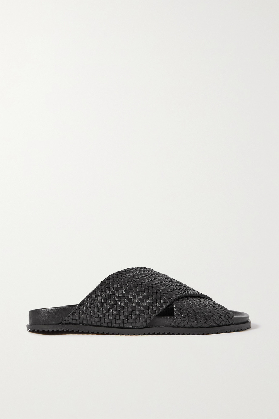 ST. AGNI + NET SUSTAIN Arne woven leather slides