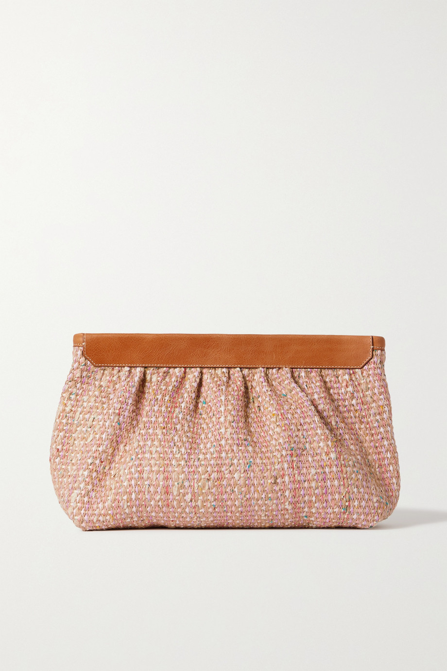 ISABEL MARANT Luz leather-trimmed tweed clutch