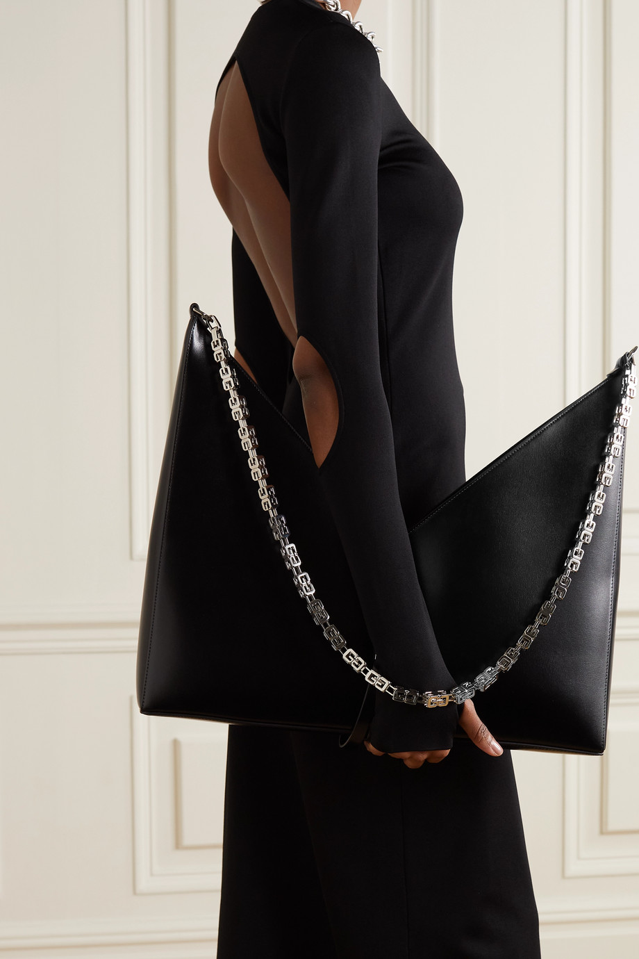 GIVENCHY Cut Out large leather shoulder bag