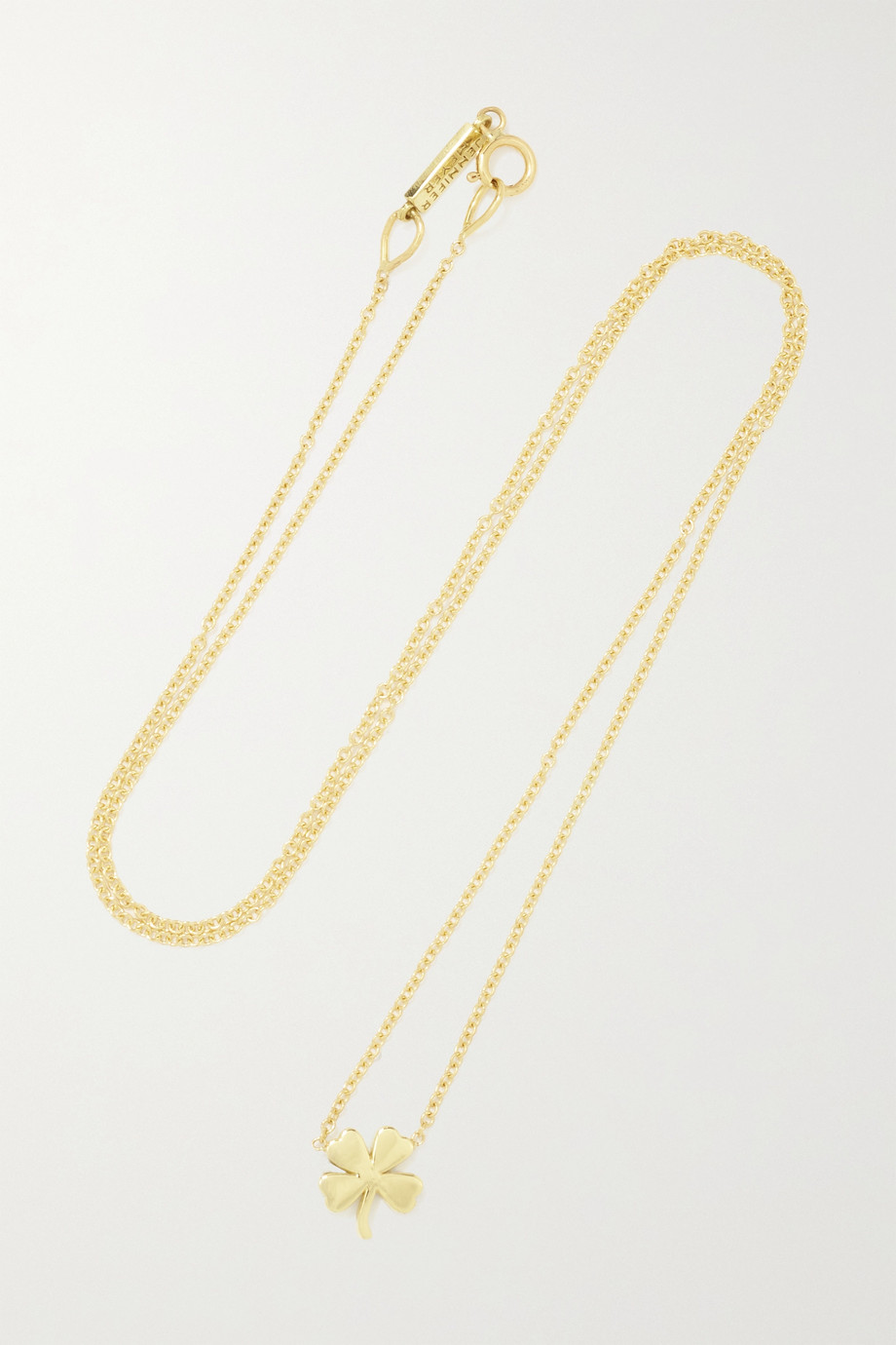 JENNIFER MEYER Mini Clover 18-karat gold necklace