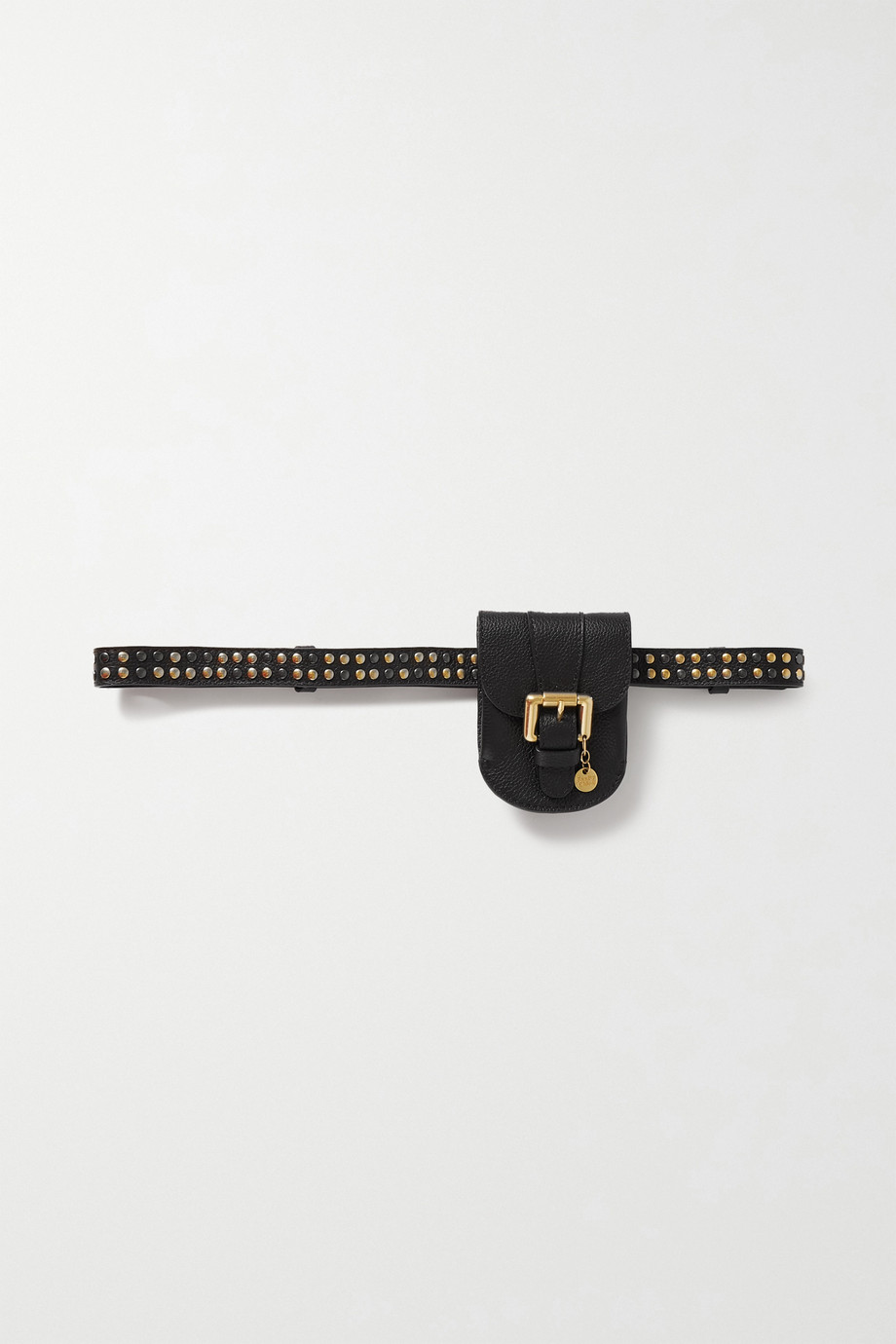 SEE BY CHLOÉ Lesley studded textured-leather belt bag