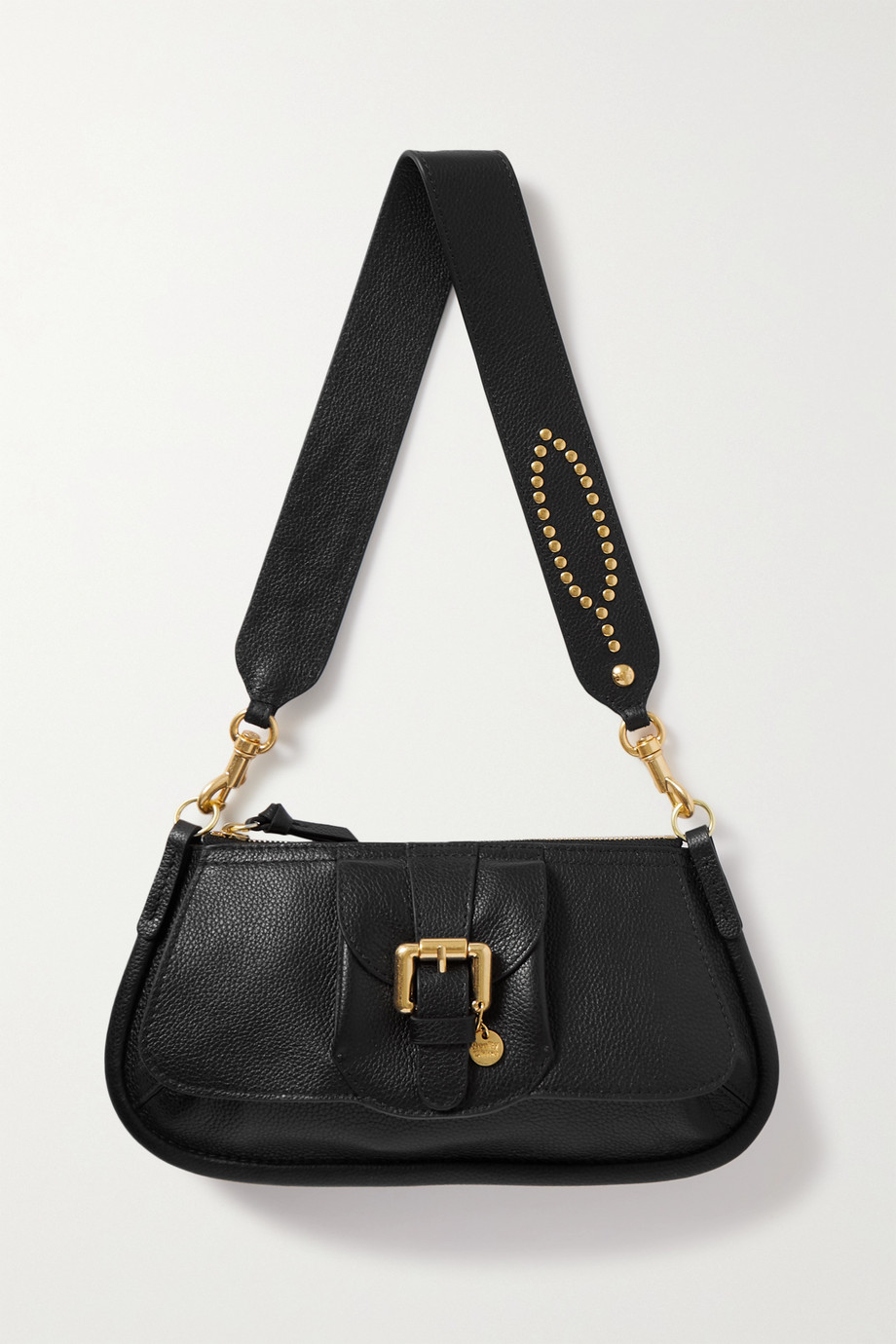 SEE BY CHLOÉ Lesly embellished textured-leather shoulder bag