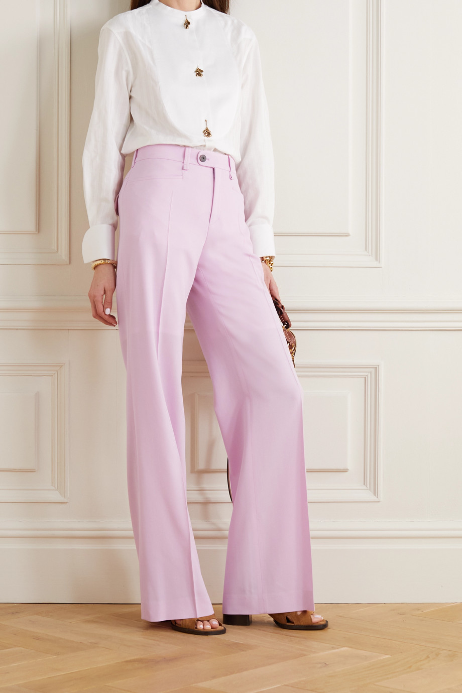 CHLOÉ Wool wide-leg pants