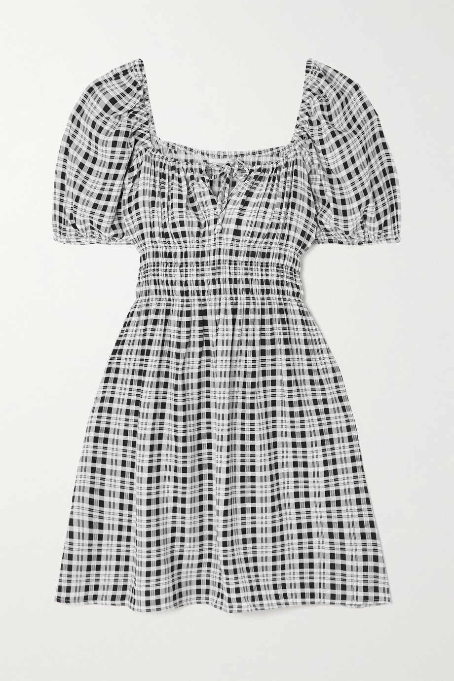 FAITHFULL THE BRAND + NET SUSTAIN Francis checked crepe mini dress