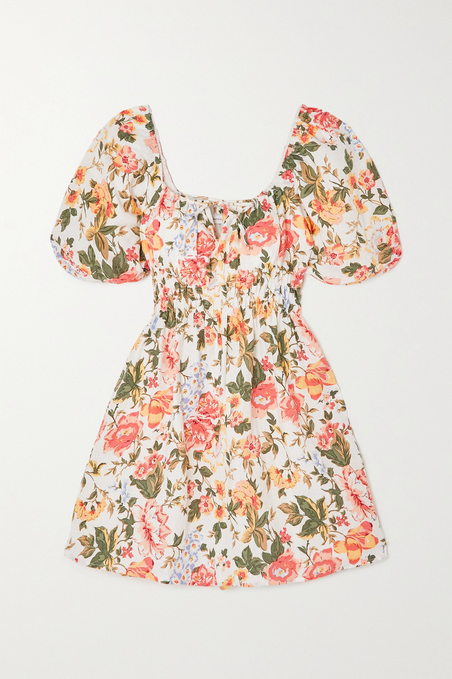 FAITHFULL THE BRAND + NET SUSTAIN Nikoleta floral-print linen mini dress