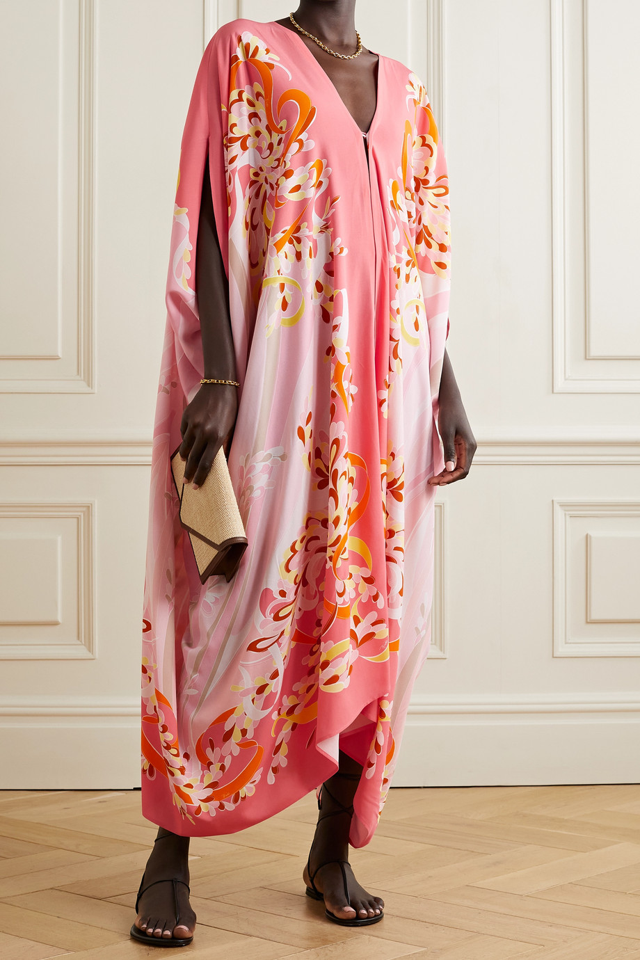 EMILIO PUCCI + NET SUSTAIN printed woven kaftan