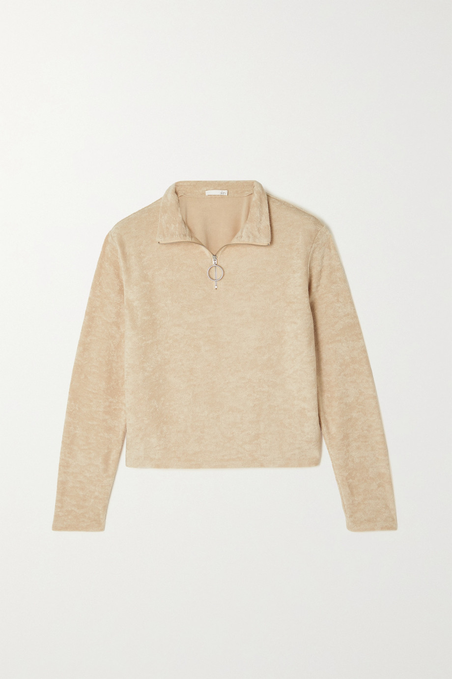 SKIN Mahlia cotton-blend terry sweater
