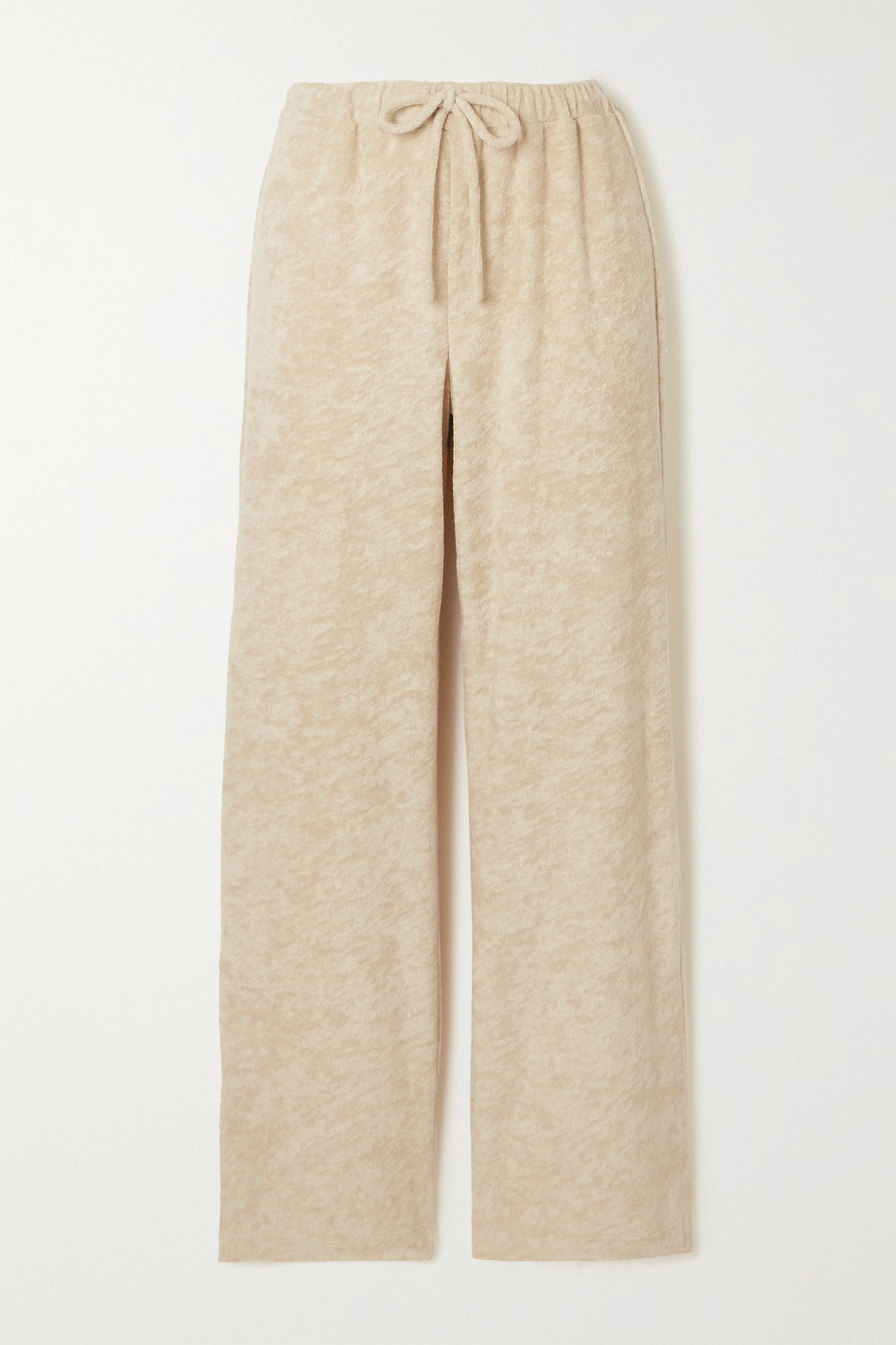SKIN Magali cotton-blend terry track pants