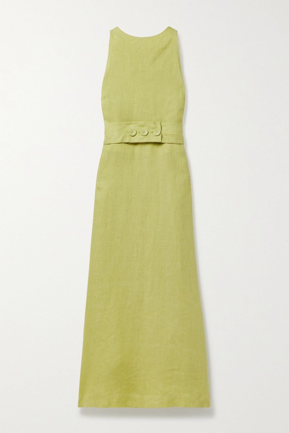 BONDI BORN Ava belted linen maxi dress