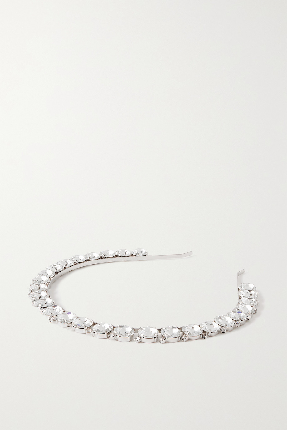ALESSANDRA RICH Silver-tone and crystal headband