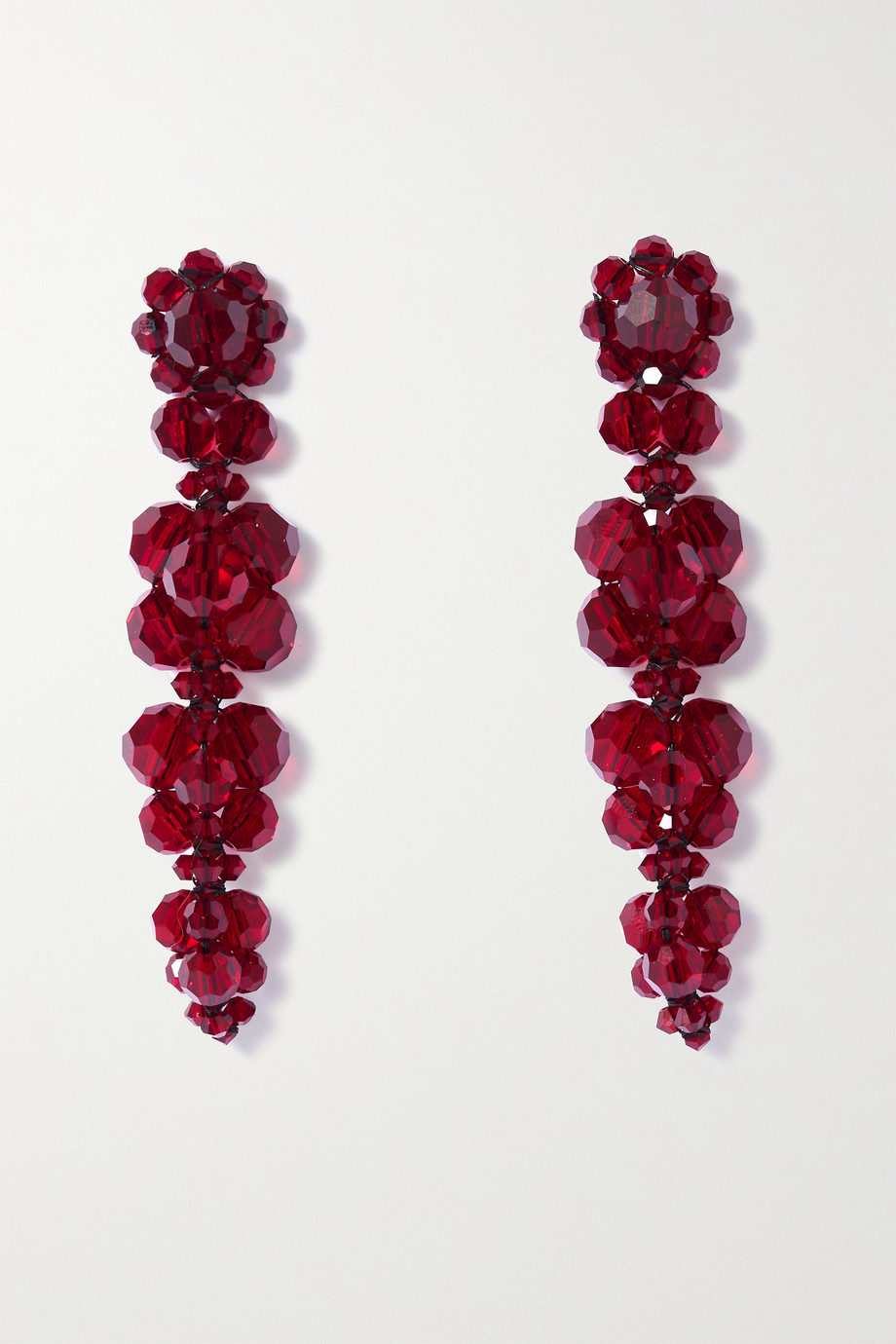 SIMONE ROCHA Gold-tone crystal earrings