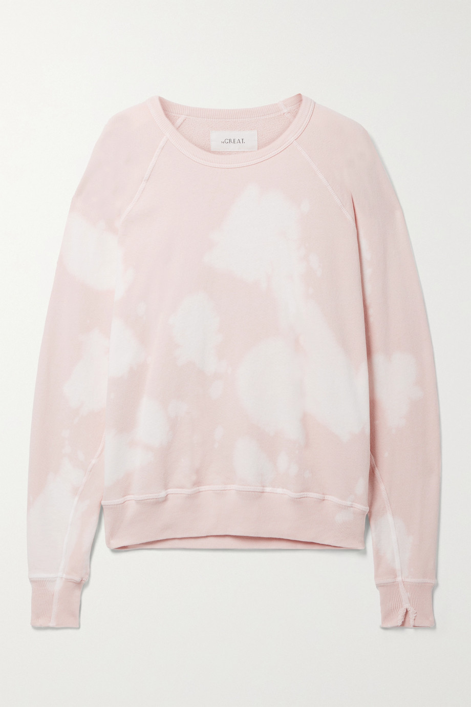 THE GREAT. The College tie-dyed cotton-jersey sweatshirt