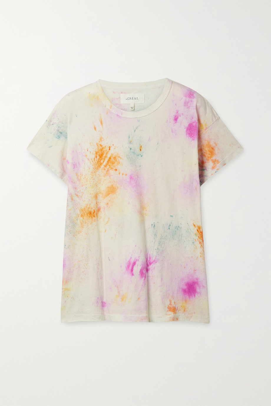 THE GREAT. The Boxy Crew tie-dyed cotton-jersey T-shirt