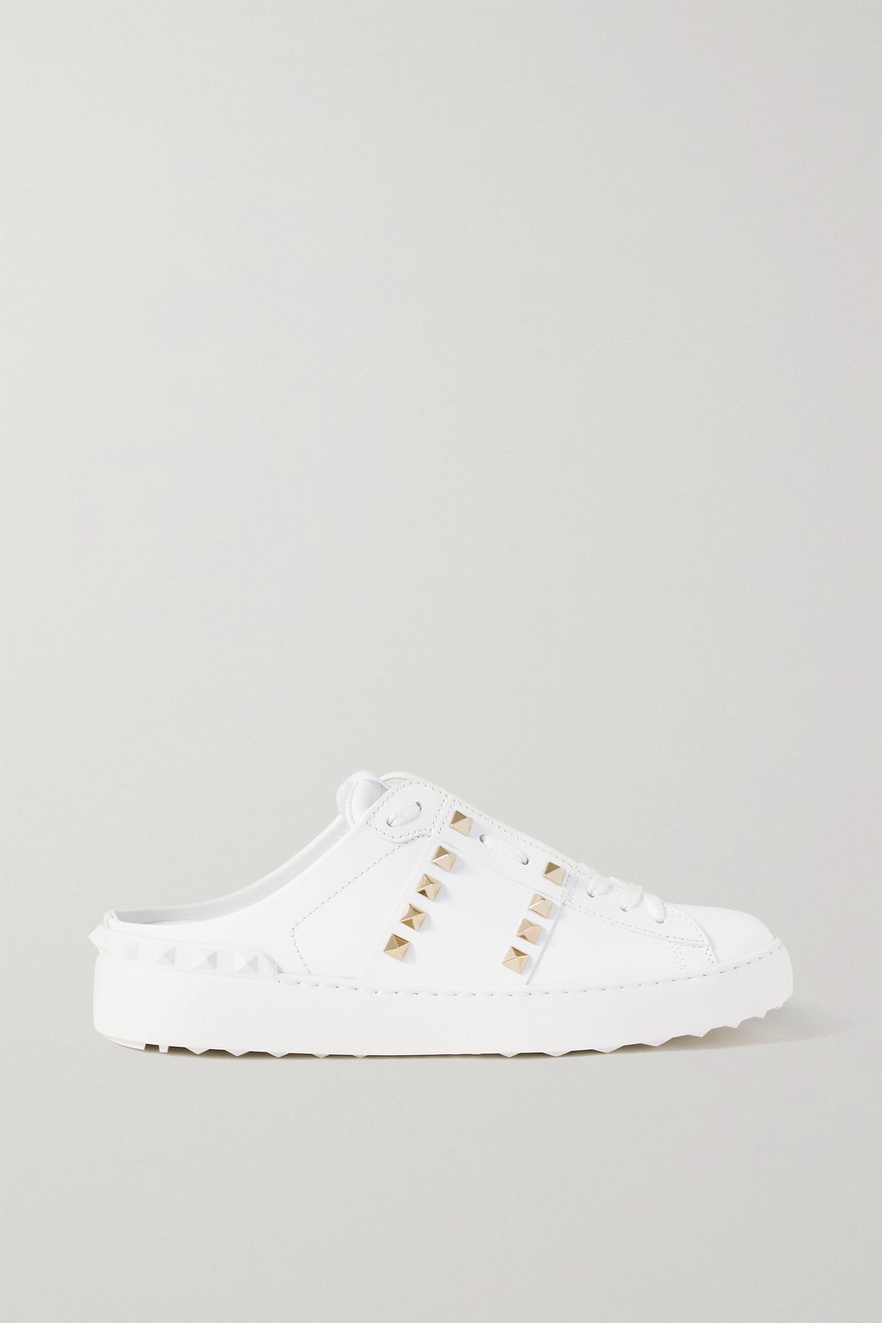 VALENTINO - Valentino Garavani Rockstud Leather Slip-on Sneakers - White - IT36