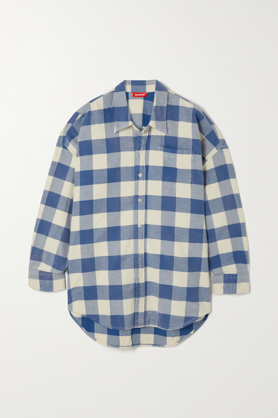 DENIMIST Checked cotton-flannel shirt