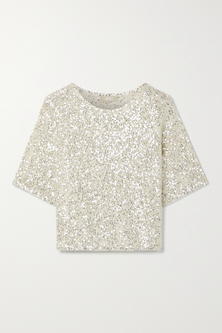 LAPOINTE Sequined cashmere and silk-blend top