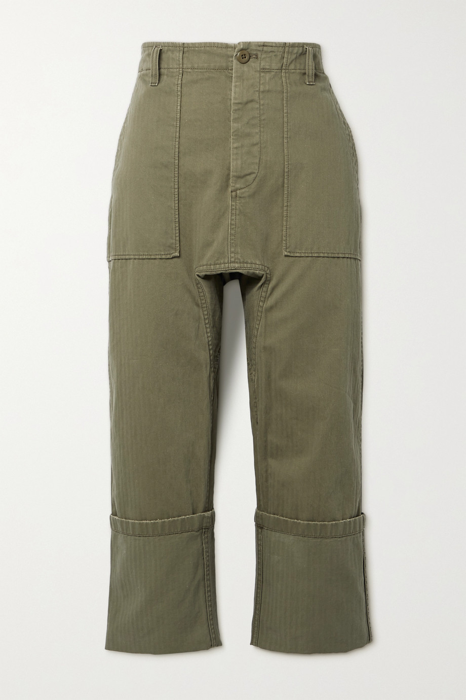 R13 Utility cropped cotton pants