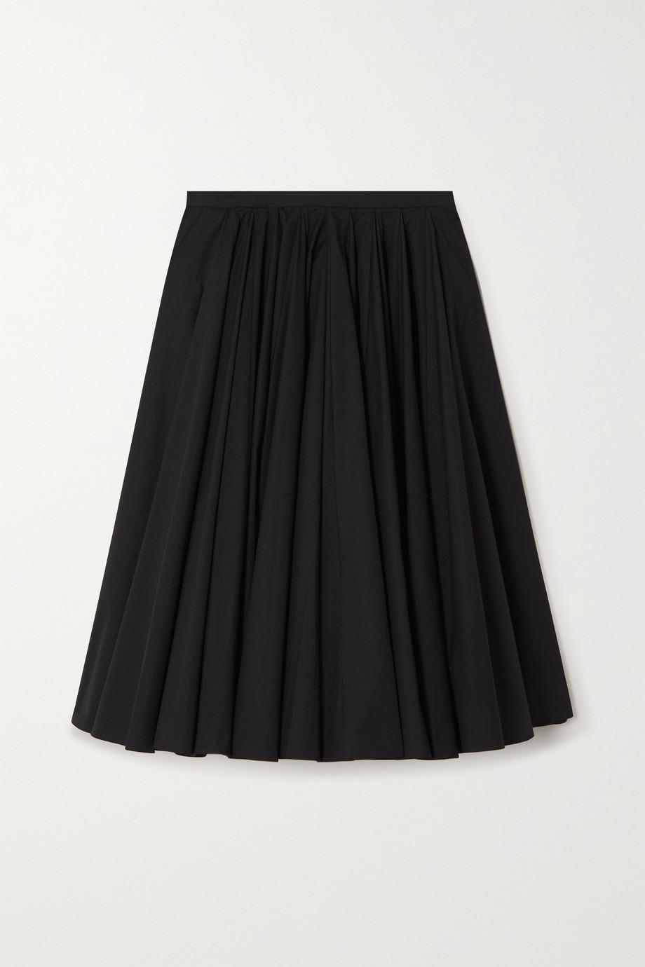 EMILIA WICKSTEAD Lily pleated cotton-poplin skirt
