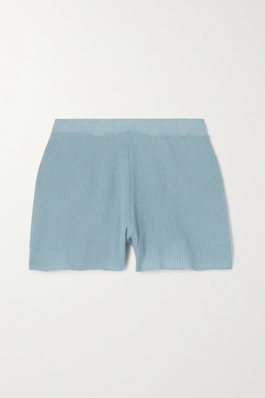 SABLYN Gia ribbed cashmere shorts