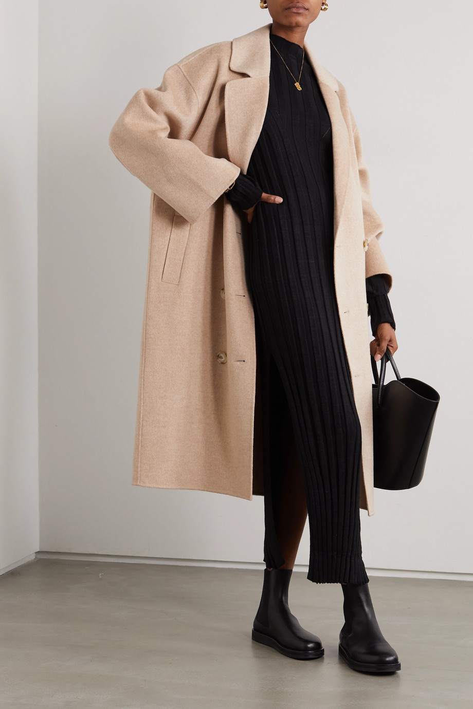 LOULOU STUDIO Borneo double-breasted wool and cashmere-blend coat