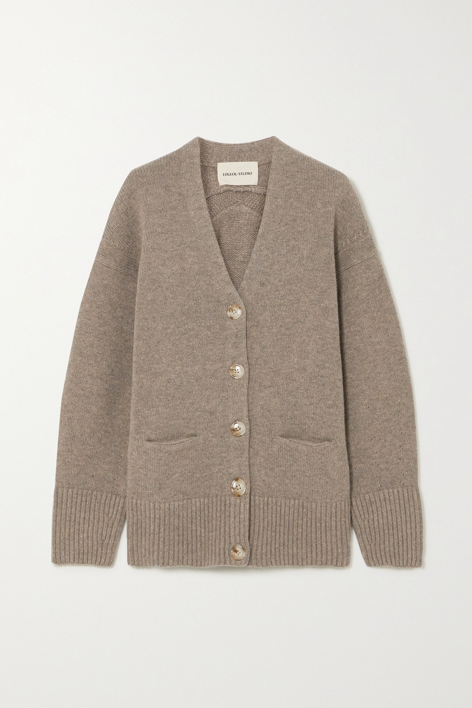 LOULOU STUDIO Sri mélange wool and cashmere-blend cardigan