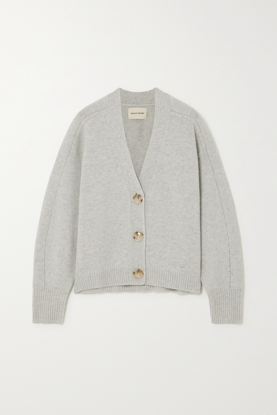 LOULOU STUDIO Zanzibar mélange wool and cashmere-blend cardigan