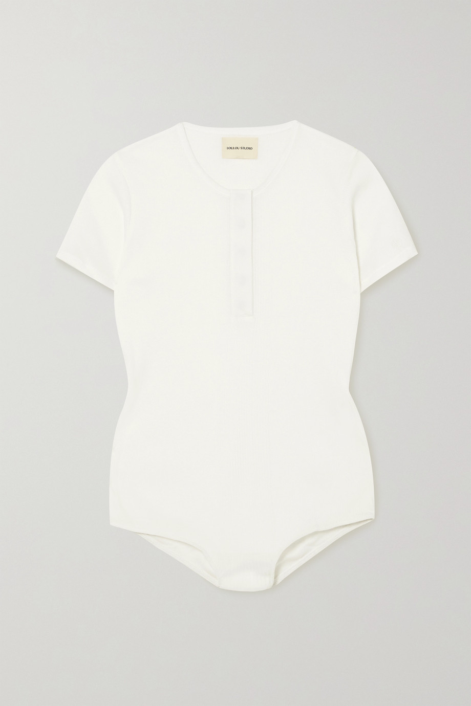 LOULOU STUDIO Hiva ribbed cotton bodysuit