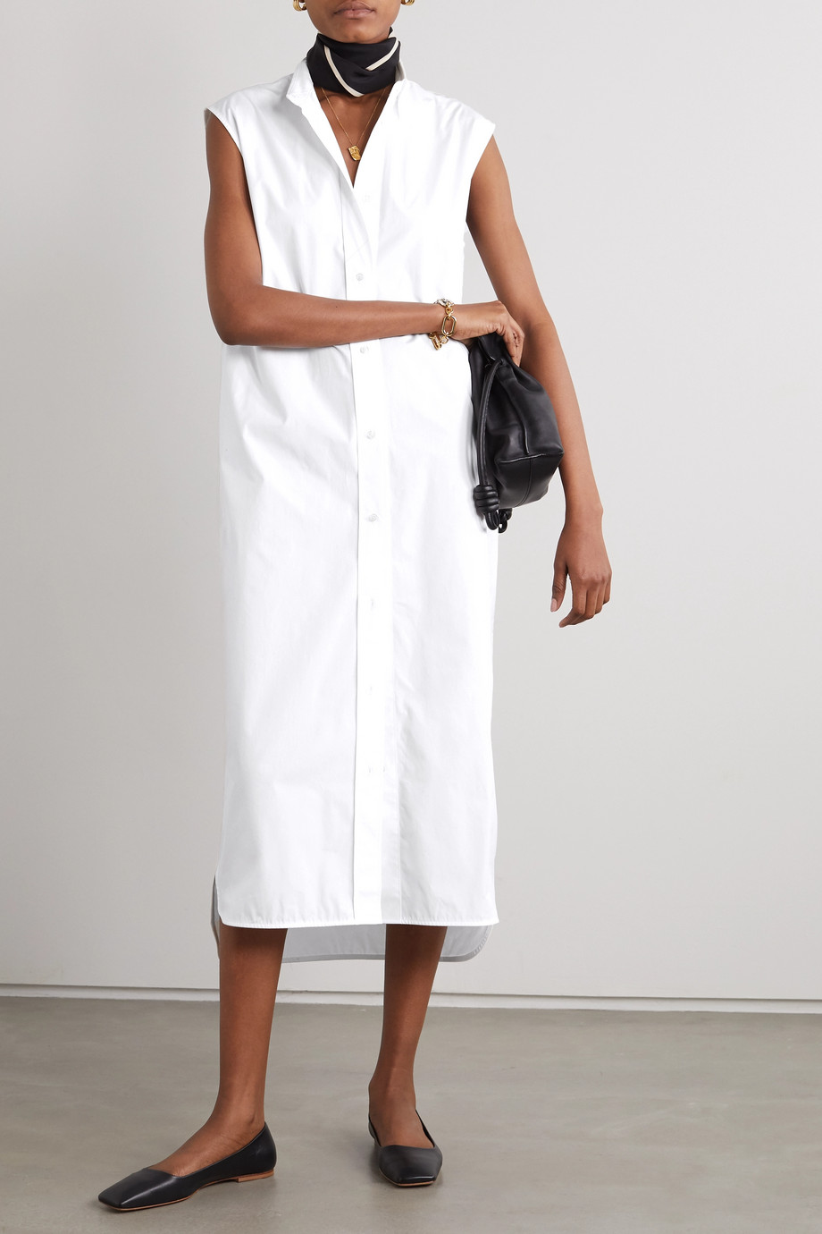 LOULOU STUDIO Ukara cotton-poplin shirt dress
