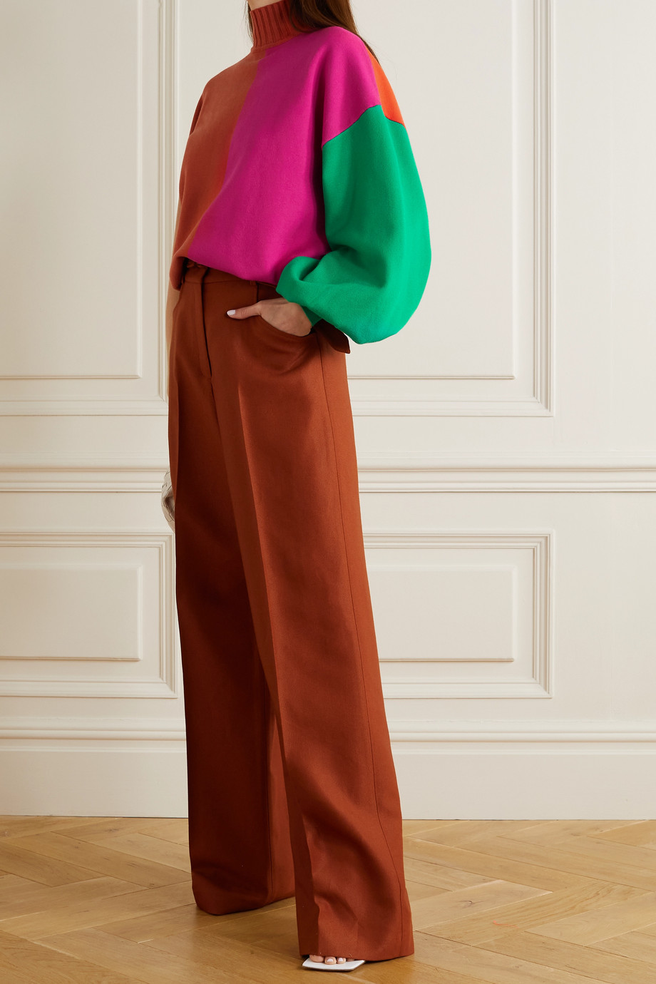 ROKSANDA Clover color-block knitted sweater
