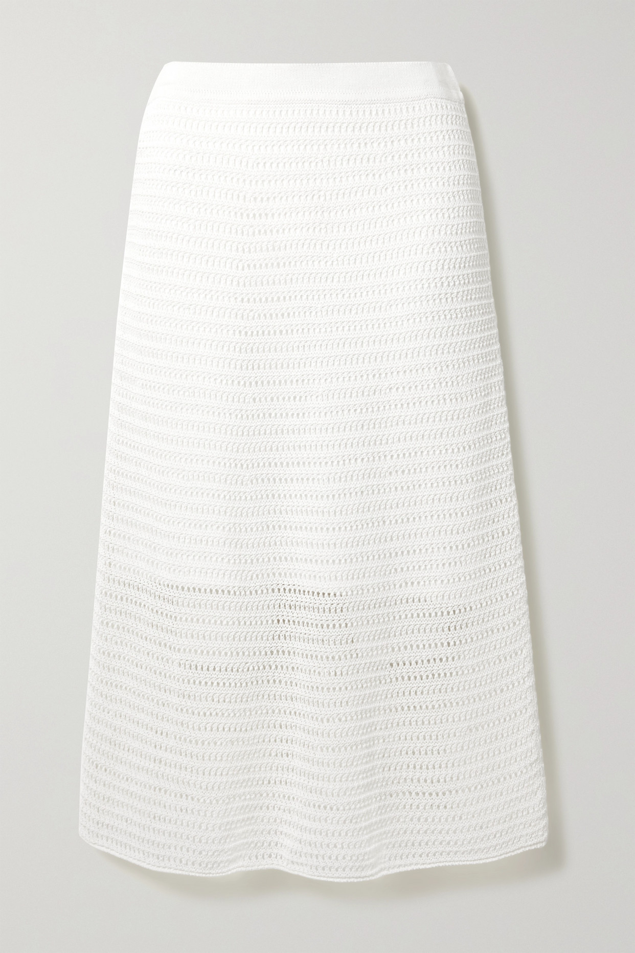 VINCE - Crocheted Cotton-blend Midi Skirt - White - x small