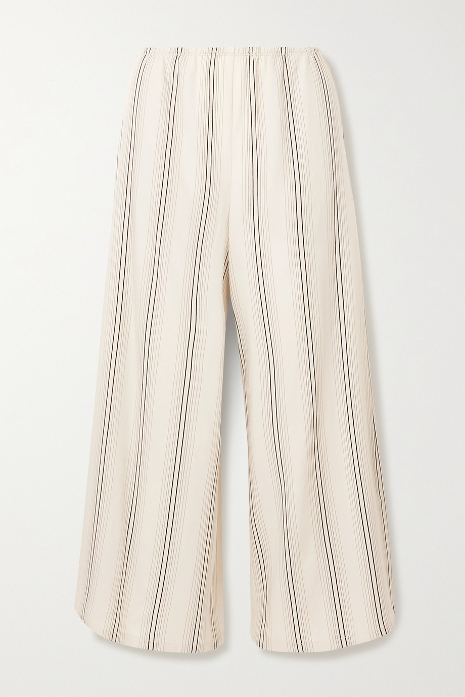 VINCE Cropped striped twill wide-leg pants