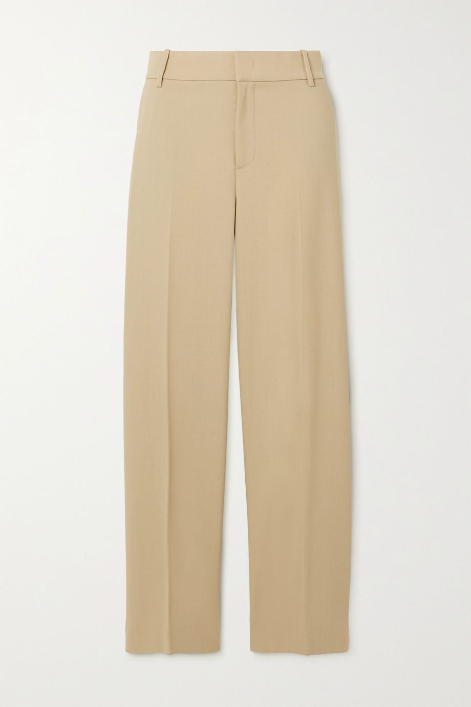 VINCE Wool-blend twill straight-leg pants