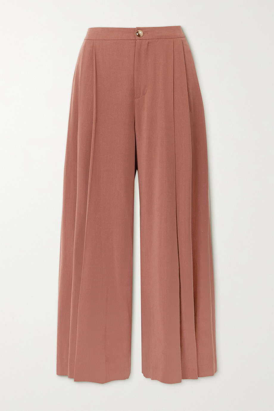 VINCE Pleated Lyocell culottes