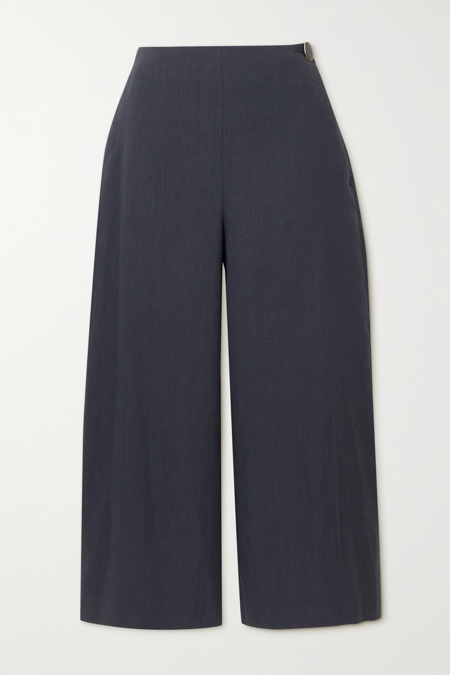 VINCE Cropped linen-blend wide-leg pants