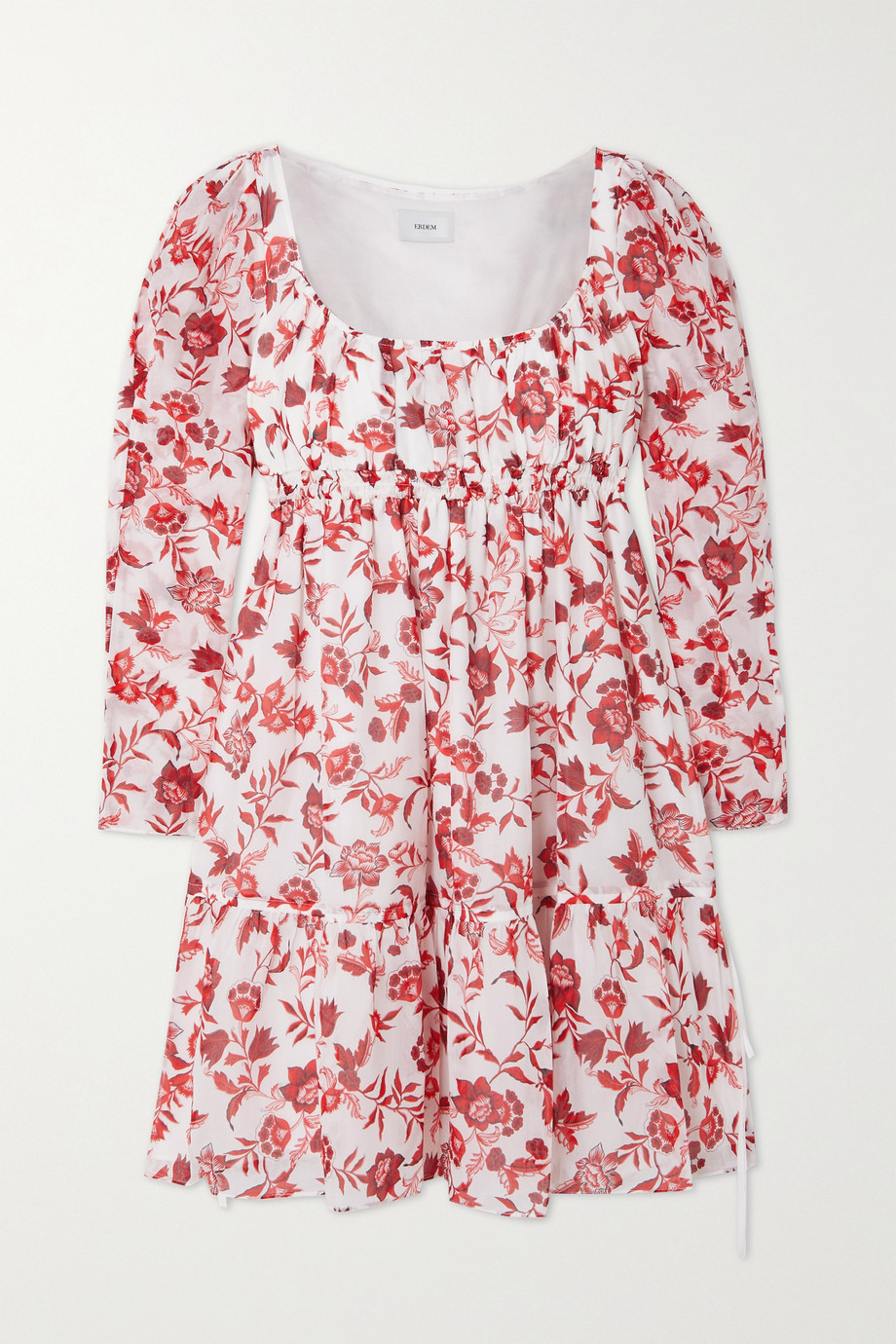 ERDEM Sibyl floral-print cotton and silk-blend voile mini dress
