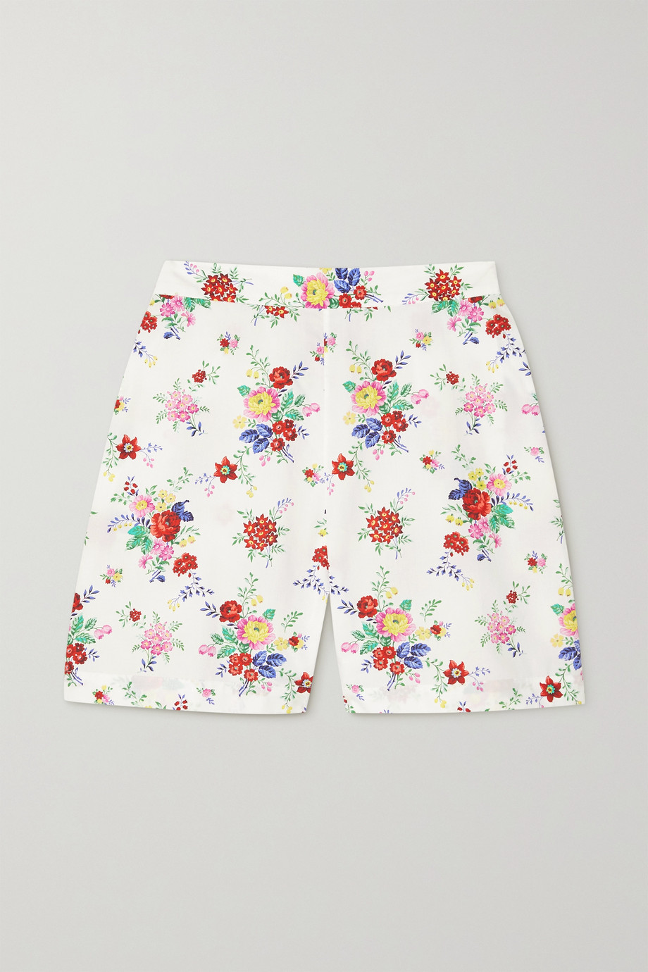THE VAMPIRE'S WIFE Floral-print cotton shorts