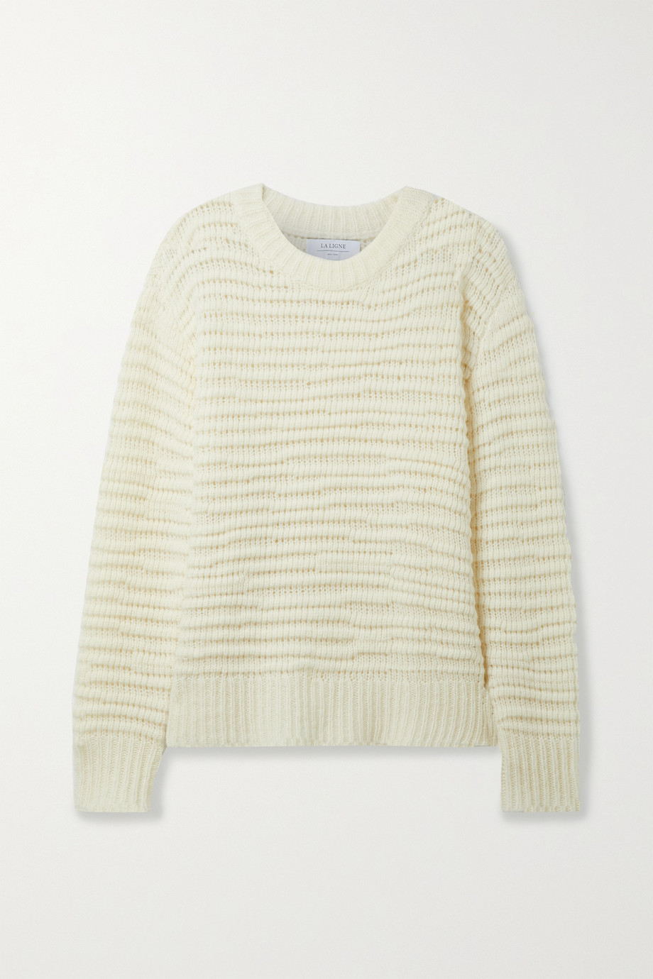 LA LIGNE Nuage open-knit wool and cashmere-blend sweater