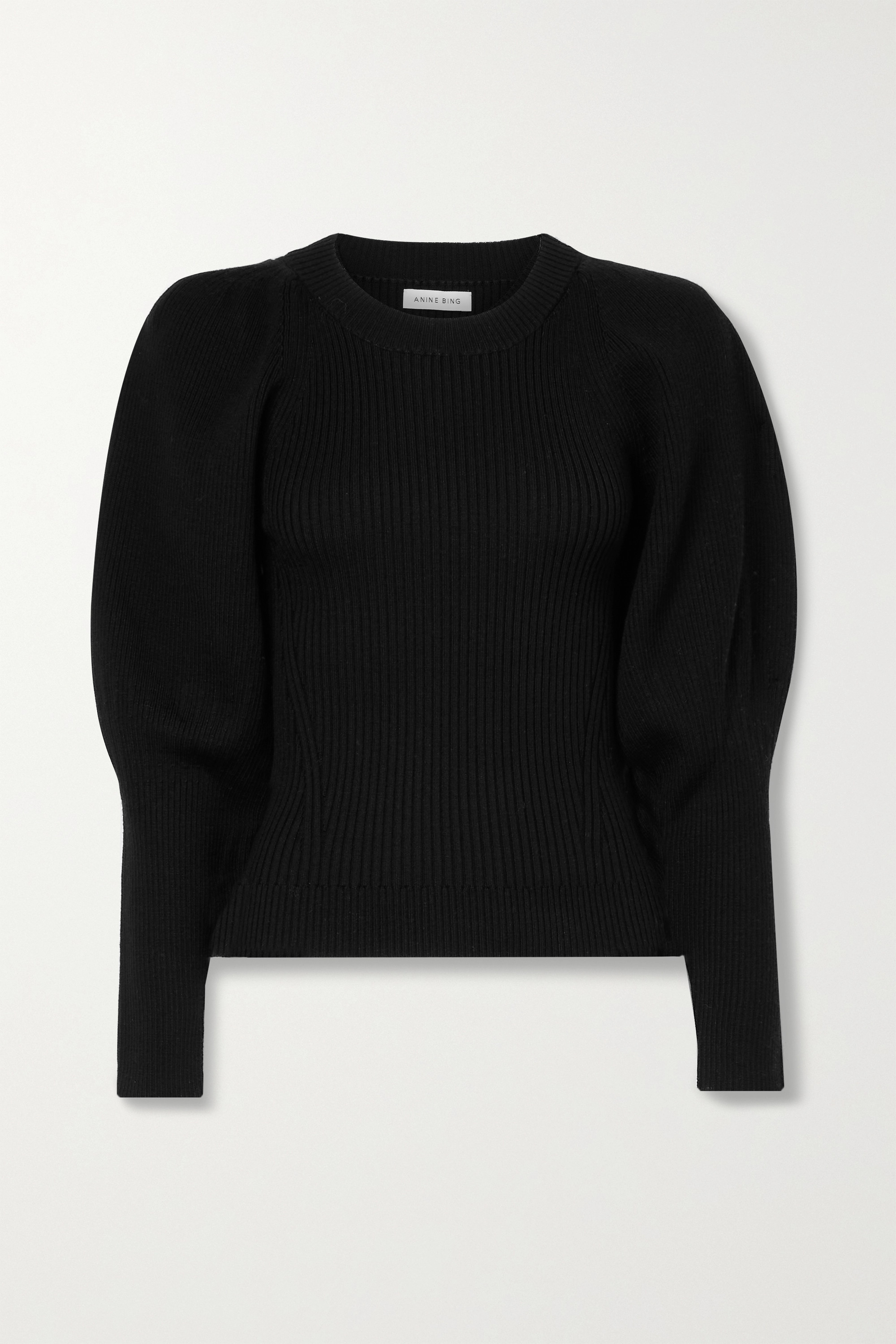 ANINE BING Rowan ribbed wool sweater