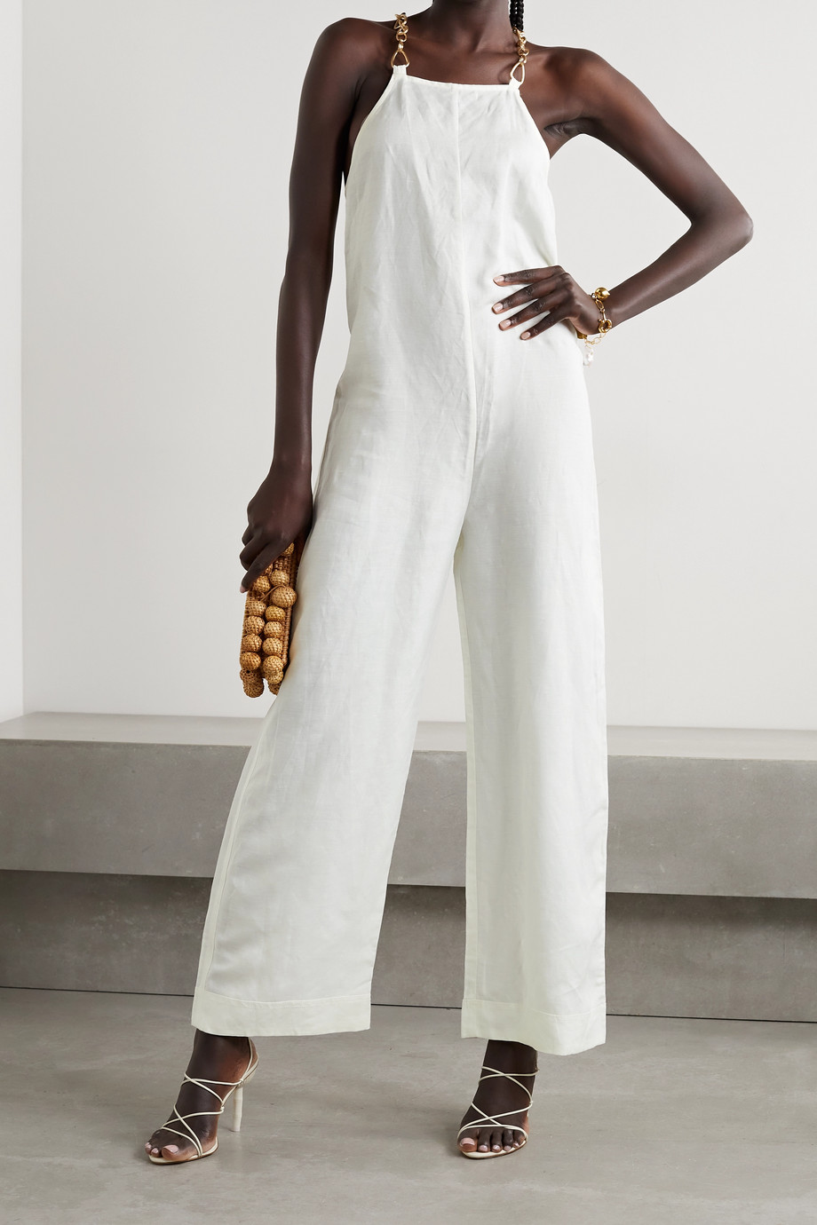 CULT GAIA Myla linen and TENCEL Lyocell-blend jumpsuit